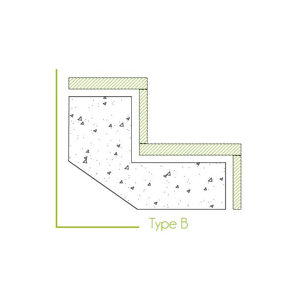 Trapbekleding type b