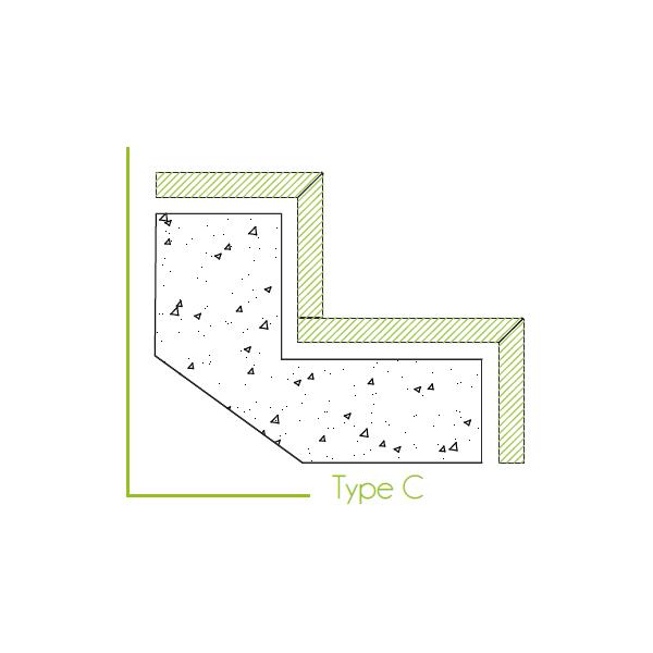 Trapbekleding type c