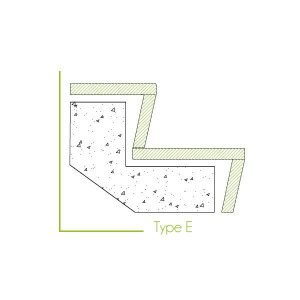 Trapbekleding type e