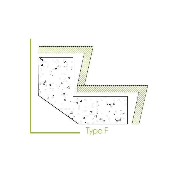 Trapbekleding type f
