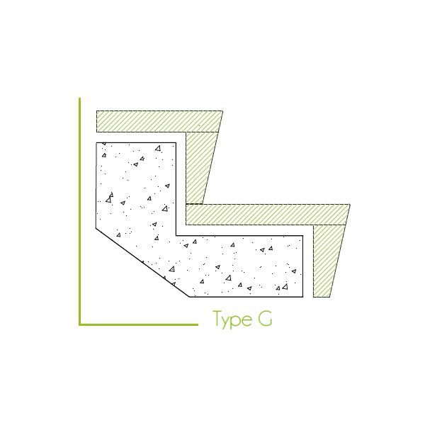 Trapbekleding type g
